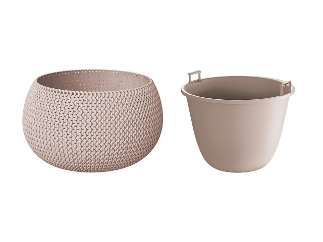 Кашпо Prosperplast Splofy Bowl DKSP370-7529U Mocha