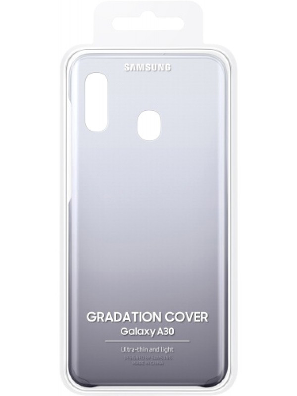 Аксессуар Чехол для Samsung Galaxy A305 Gradation Cover Black EF-AA305CBEGRU