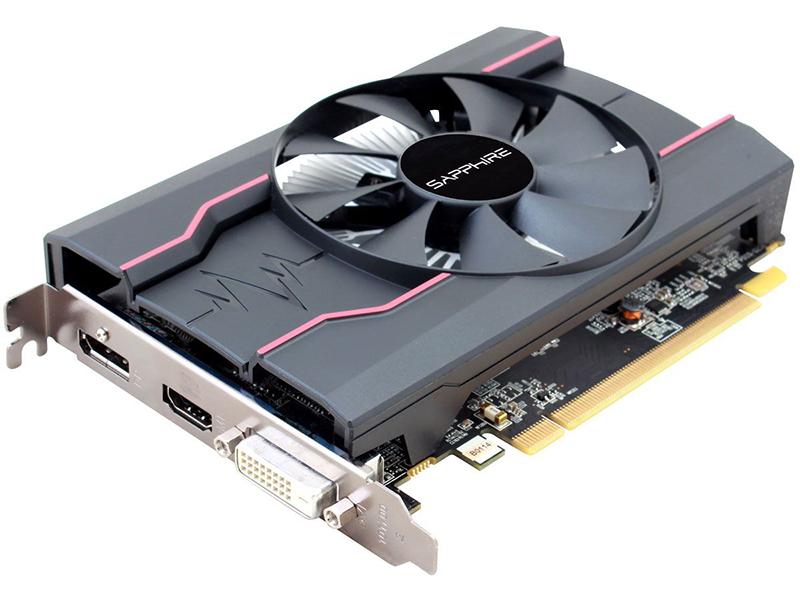 Видеокарта Sapphire Pulse Radeon RX 550 1206Mhz PCI-E 3.0 4096Mb 7000Mhz 128 bit DVI HDMI HDCP 11268-01-20G