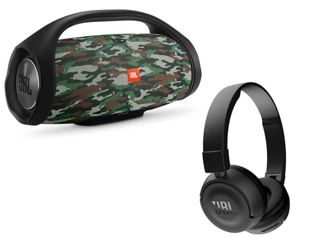 Колонка JBL Boombox + T450BT Camouflage/Black