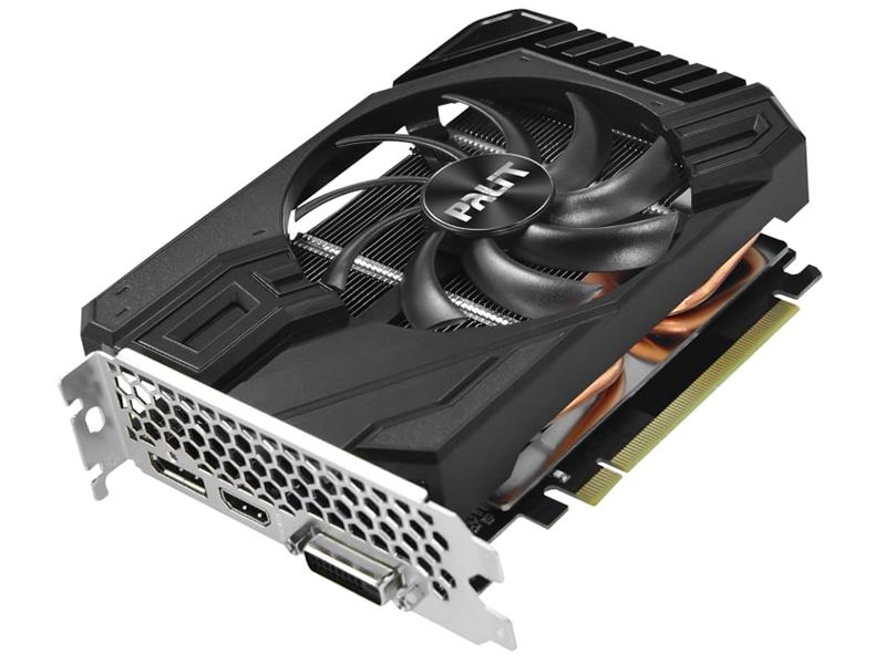 Видеокарта Palit GeForce GTX 1660 StormX OC 1530Mhz PCI-E 3.0 6144Mb 8000Mhz 192 bit DVI HDMI DP NE51660S18J9-165F