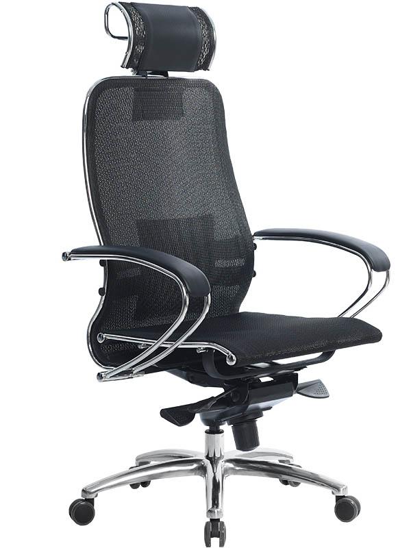 Компьютерное кресло Метта Samurai S-2.03 Black с 3D подголовником