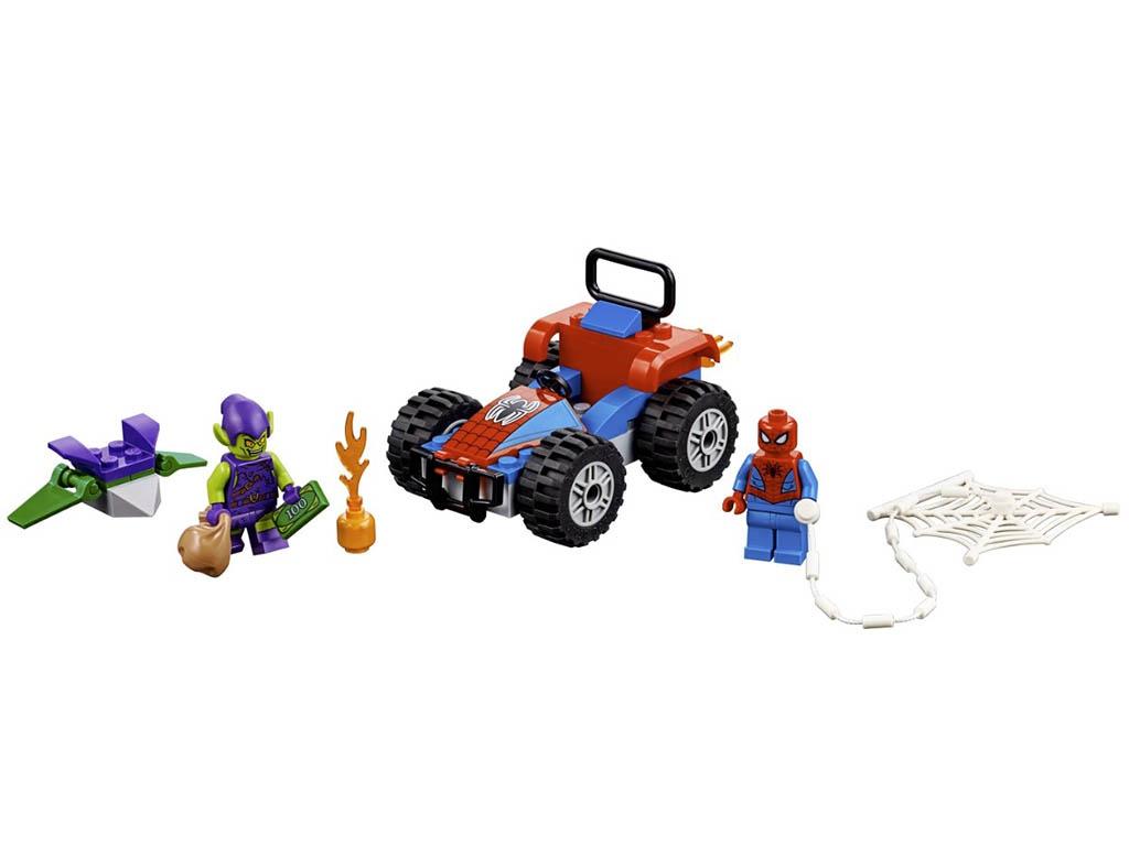 Конструктор Lego Super Heroes Автомобильная погоня Человека-Паука 52 дет. 76133
