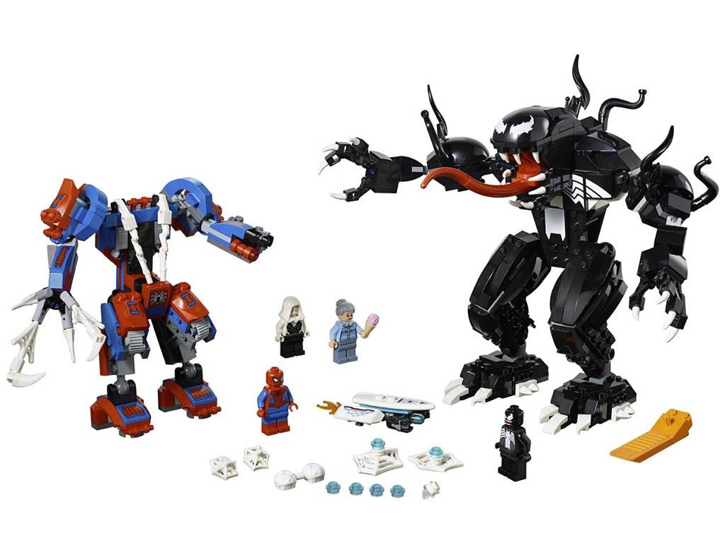 Конструктор Lego Super Heroes Человек-паук против Венома 604 дет. 76115 конструктор lego super heroes тор против локи 79 элементов 76091