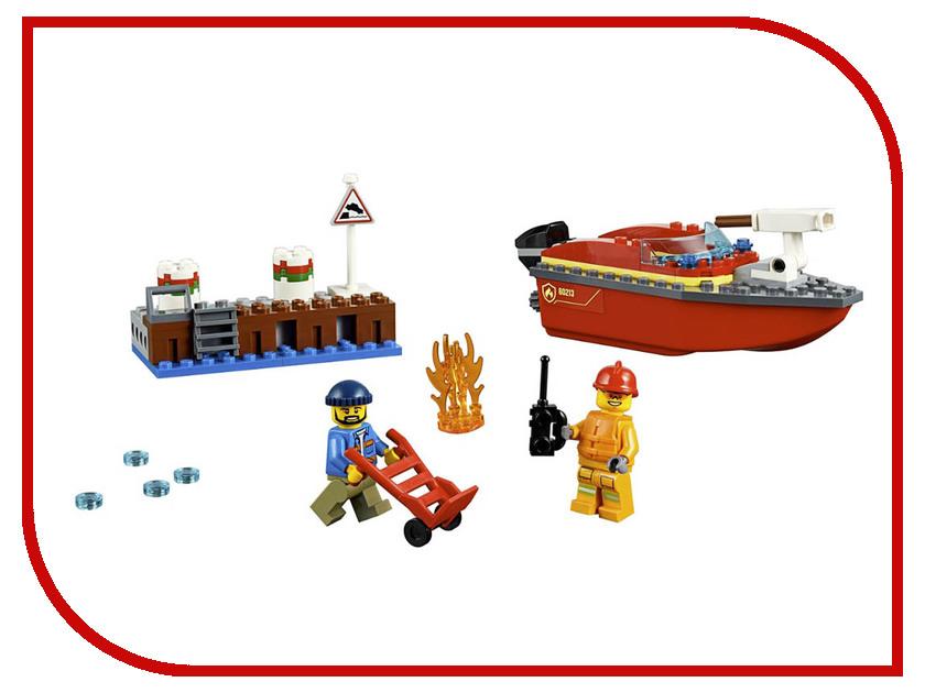 Конструктор Lego City Пожар в порту 97 дет. 60213 конструктор lele city сверхмощный спасательный 448 дет 02068