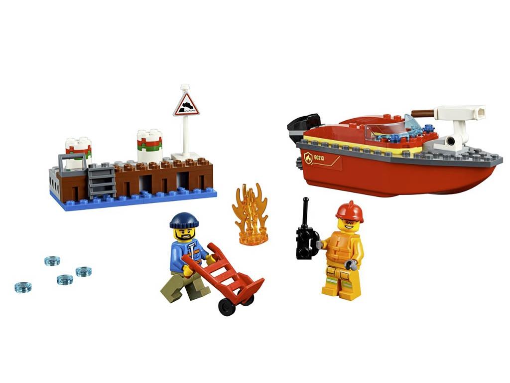 Конструктор Lego City Пожар в порту 97 дет. 60213