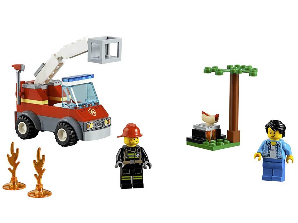 Конструктор Lego City Пожар на пикнике 64 дет. 60212 конструктор lego city патрульный самолёт 54 дет 60206