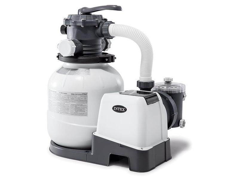 Песочный фильтрующий насос Intex Krystal Clear 6000 л/ч 26646 картриджный фильтр насос intex 28638 krystal clear для бассейнов более 457 см