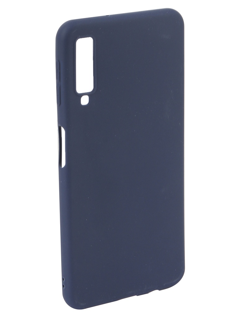 Аксессуар Чехол Neypo для Samsung Galaxy A7 2018 Soft Matte Silicone Dark Blue NST5979 аксессуар чехол для samsung j4 plus 2018 neypo soft matte dark blue nst5983