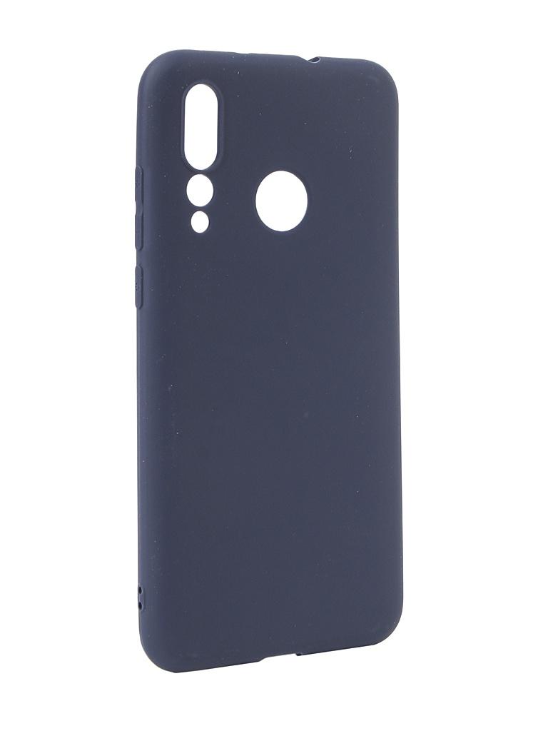 Аксессуар Чехол Neypo для Huawei Nova 4 Soft Matte Silicone Dark Blue NST7185 аксессуар чехол для huawei y6 2019 neypo soft matte silicone dark blue nst11315