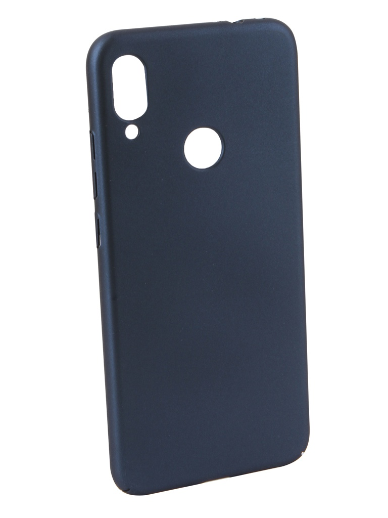 Аксессуар Чехол Neypo для Xiaomi Redmi Note 7 Soft Touch Dark Blue ST11360 аксессуар чехол xiaomi redmi note 2 cojess ultra slim blue