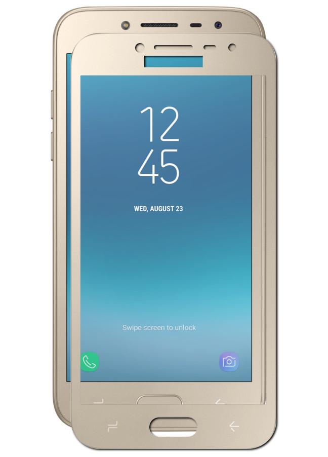 Защитное стекло Ainy для Samsung Galaxy J2 2018 Full Screen Cover 0.33mm Gold AF-S1429L