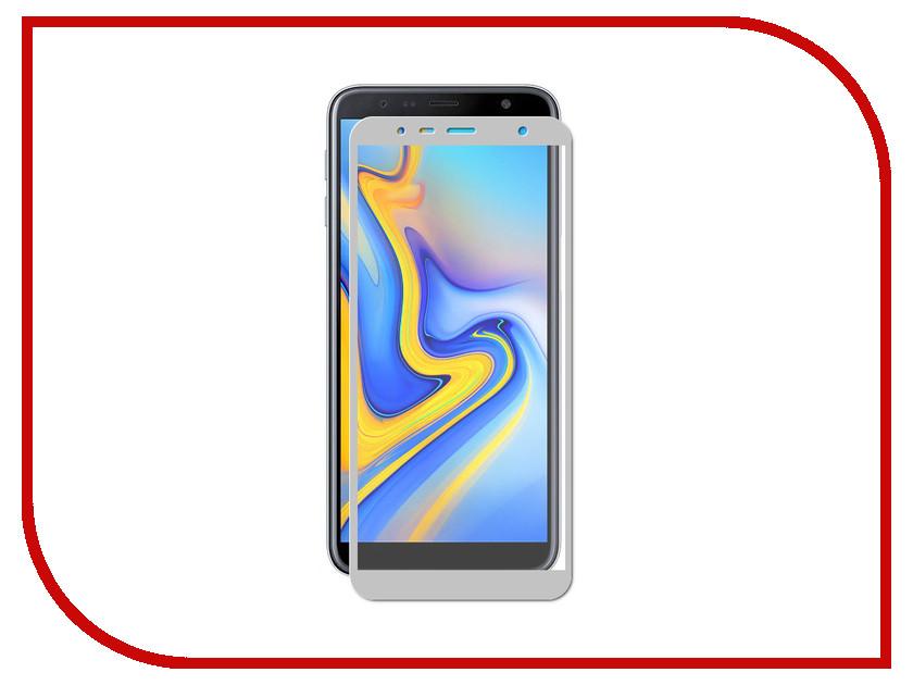 Купить Аксессуар Защитное стекло для Samsung Galaxy J6 Plus LuxCase 2.5D Grey Frame 78007