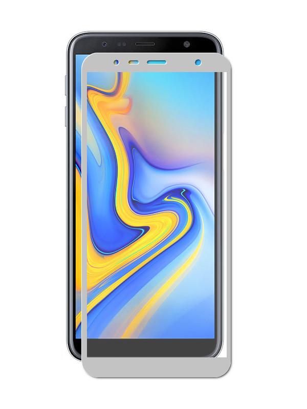 Аксессуар Защитное стекло LuxCase для Samsung Galaxy J6 Plus 2.5D Grey Frame 78007