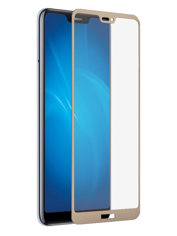 Аксессуар Защитное стекло LuxCase для Honor 8C 2.5D FG Gold Frame 78013