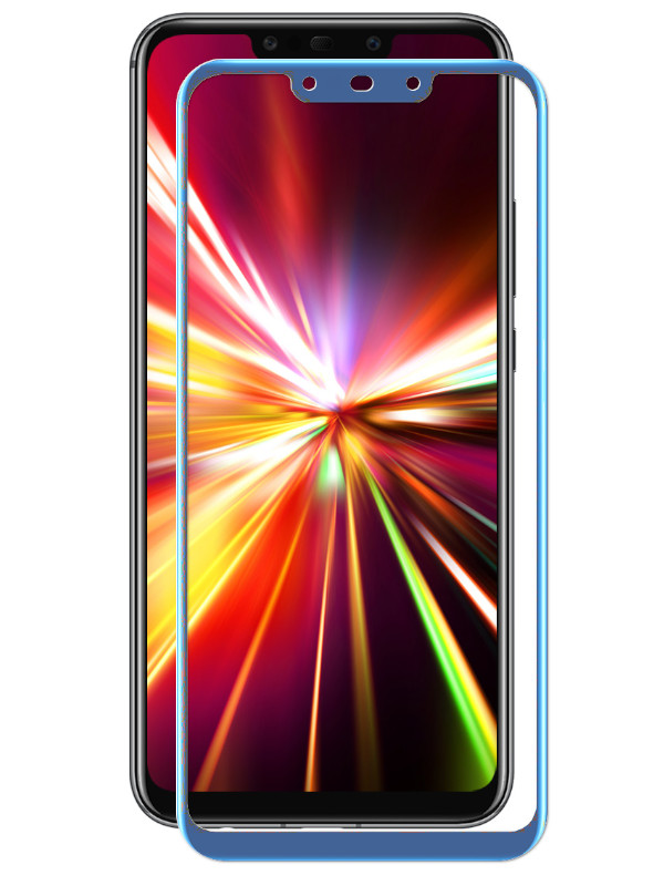 Аксессуар Защитное стекло LuxCase для Huawei Mate 20 Lite 2.5D Blue Frame 77999