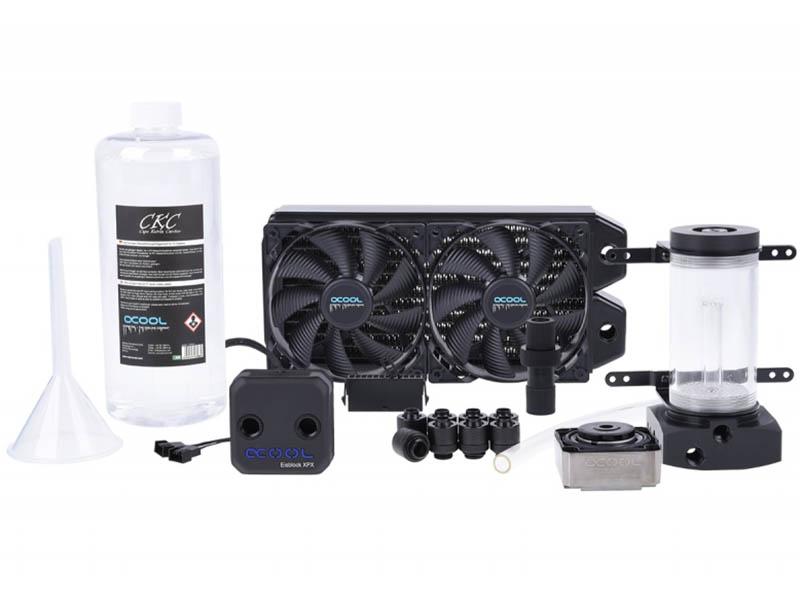 Водяное охлаждение Alphacool Eissturm Hurricane Copper 45 2x120mm 11343