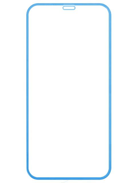 Аксессуар Защитное стекло LuxCase для APPLE iPhone Xr 2.5D FG Blue Frame 78018 защитное стекло luxcase для apple iphone 5 5s se 0 2 мм гибридное прозрачное