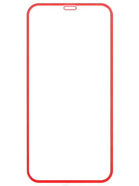Аксессуар Защитное стекло LuxCase для APPLE iPhone Xr 2.5D FG Red Frame 78017 аксессуар защитное стекло luxcase 2 5d full screen для apple iphone 6 white frame 77816