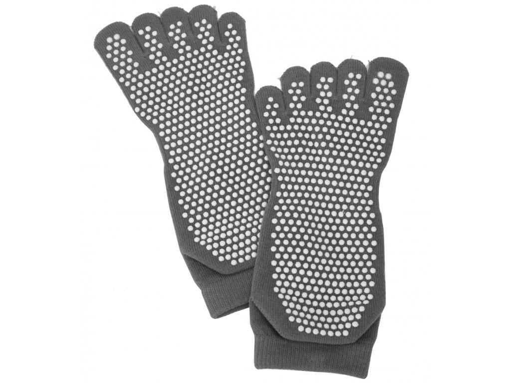 Носки для занятий йогой Bradex закрытые, противоскользящие Grey SF 0351