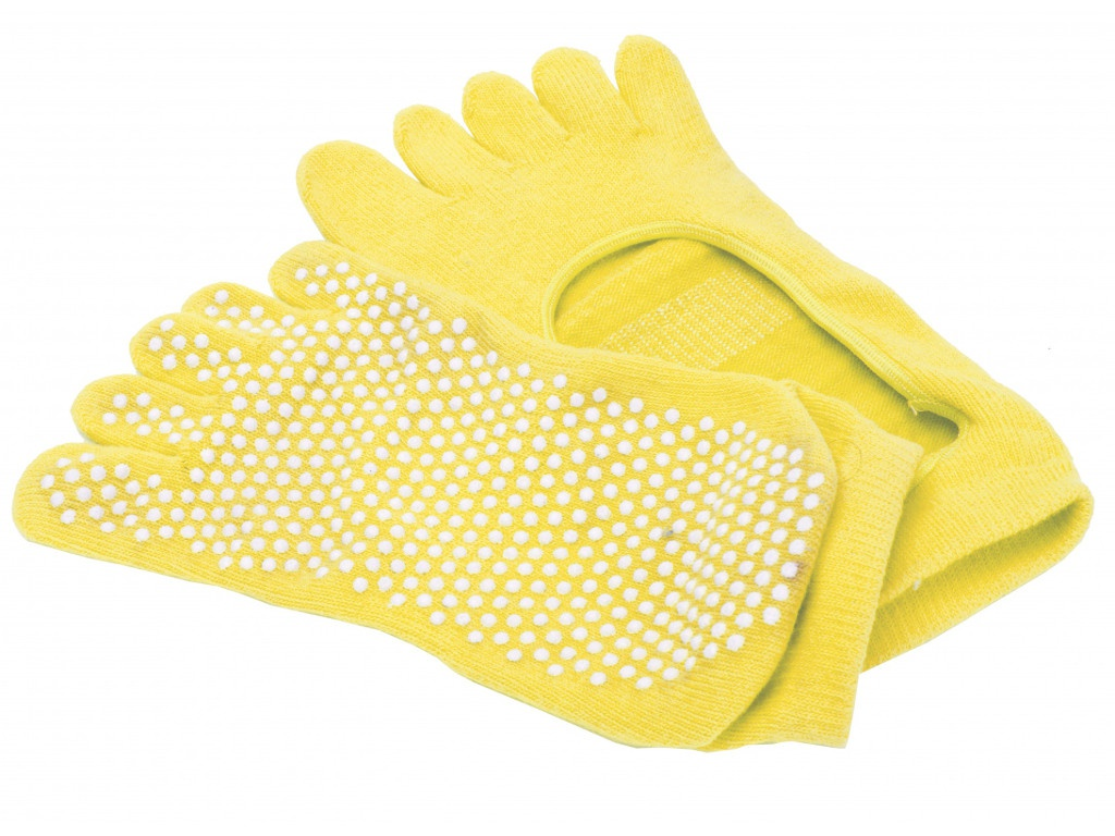 Носки для занятий йогой Bradex противоскользящие Yellow SF 0349 набор bradex для фитнеса sf 0070