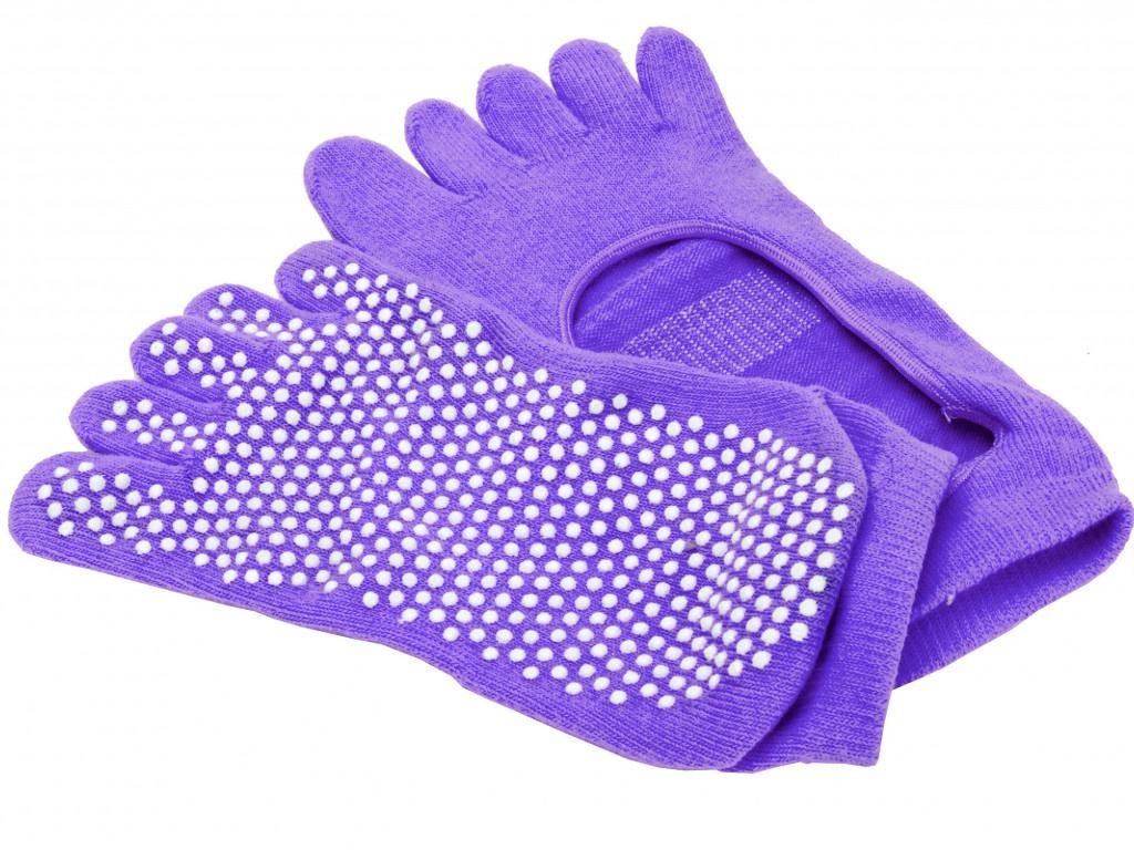 Носки для занятий йогой Bradex противоскользящие Purple SF 0347