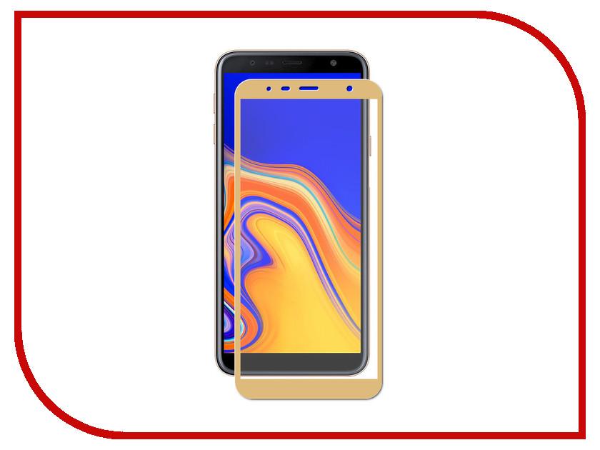 Купить Аксессуар Защитное стекло для Samsung Galaxy J4 Plus LuxCase 2.5D Gold Frame 78004