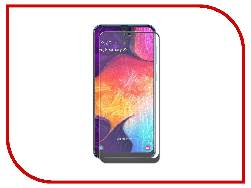 Купить Аксессуар Защитное стекло для Samsung Galaxy A30 2019 LuxCase 2.5D FG Black Frame 78048