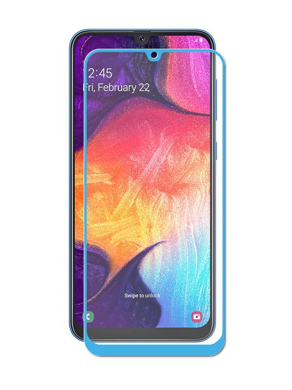 Аксессуар Защитное стекло LuxCase для Samsung Galaxy A30 2019 2.5D FG Blue Frame 78065