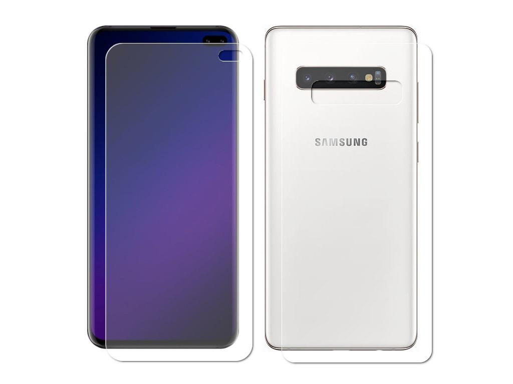 Аксессуар Защитная пленка LuxCase Front&Back На весь экран для Samsung Galaxy S10 Plus Transparent 89215 аксессуар защитная пленка luxcase для nokia 5 1 plus front