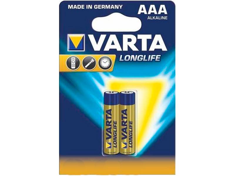 Батарейка AAA - Varta LongLife 4103 LR03 (2 штуки) батарейка щелочная varta longlife aaa lr03 4 шт