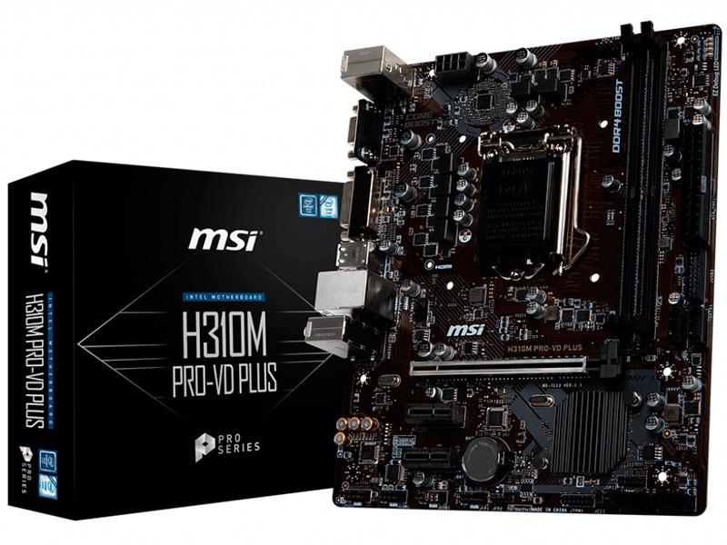 Материнская плата MSI H310M PRO-VD PLUS цена