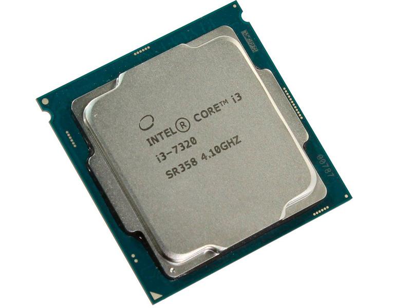 Процессор Intel Core i3-7320 Kaby Lake (4100MHz, LGA1151, L3 4096Kb) intel core i7 6700 skylake 3400mhz lga1151 l3 8192kb tray