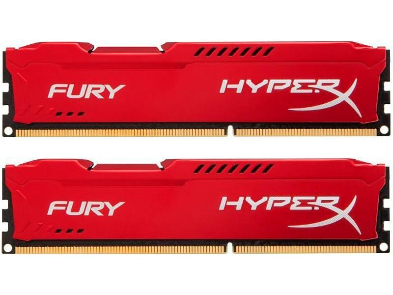 Модуль памяти Kingston HyperX Fury Red DDR4 DIMM 3466MHz PC4-27700 CL19 - 16Gb KIT (2x8Gb) HX434C19FR2K2/16
