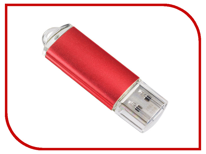 USB Flash Drive 16Gb - Perfeo E01 Red PF-E01R016ES usb flash drive 16gb perfeo c13 white pf c13w016