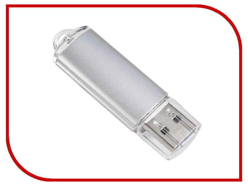 USB Flash Drive 16Gb - Perfeo E01 Silver PF-E01S016ES usb flash drive 16gb perfeo c13 white pf c13w016