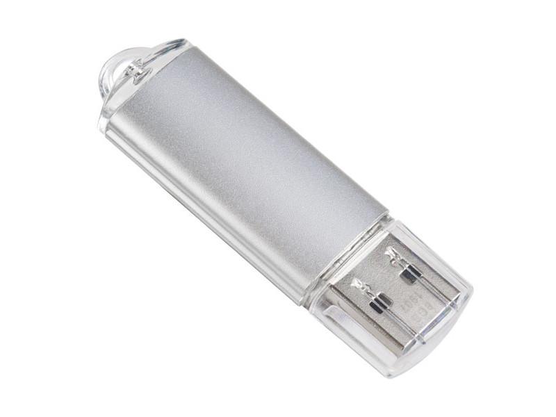 USB Flash Drive 16Gb - Perfeo E01 Silver PF-E01S016ES usb flash drive 16gb perfeo c13 white pf c13w016