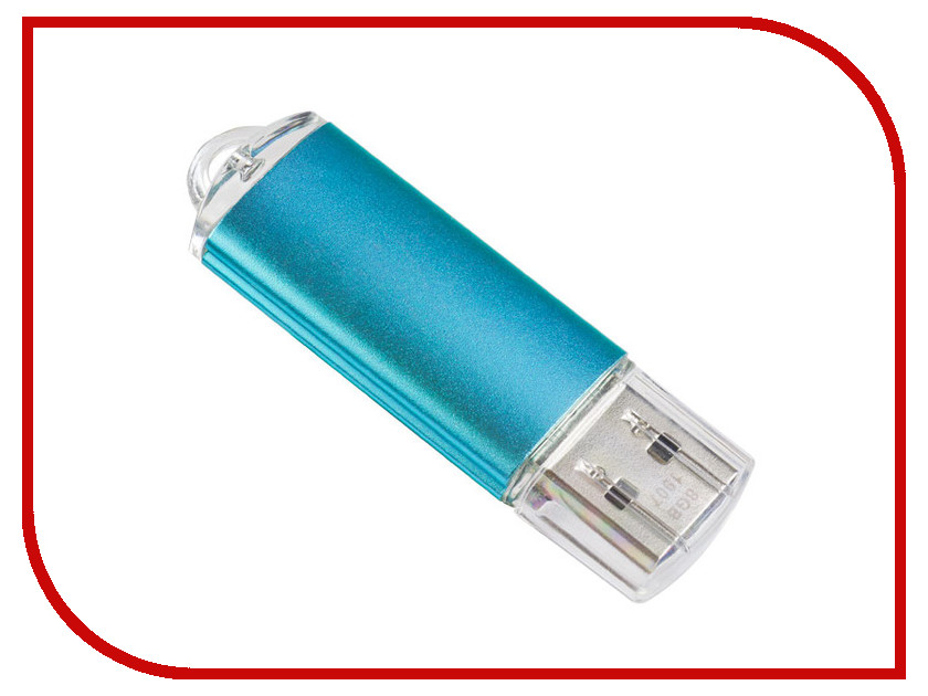 USB Flash Drive 8Gb - Perfeo E01 Blue PF-E01N008ES idomax turquoise stone usb 2 0 flash pen thumb drive stick turquoise blue silver 8gb