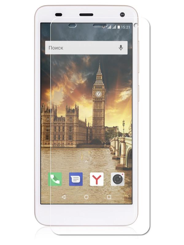 Защитная пленка LuxCase для Fly Life Compact 4G На весь экран Transparent 88527