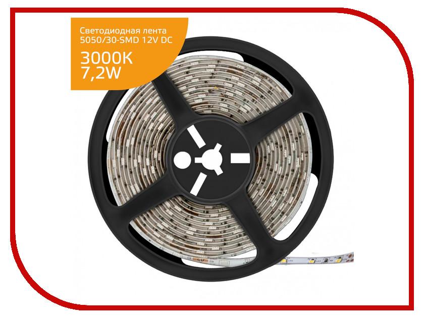 Светодиодная лента Gauss LED Elementary 5050/30-SMD 7.2W 12V DC IP20 Zip Bag 5m Warm White 355000107 white led car tail signal light bulbs for highlander car pair dc 12v