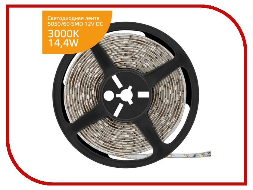 Светодиодная лента Gauss LED Elementary 5050/60-SMD 14.4W 12V DC IP66 Zip Bag 5m Warm White 356000114 white led car tail signal light bulbs for highlander car pair dc 12v