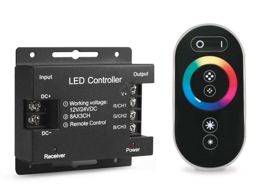 Контроллер Gauss 288W 24А RGB Black 201113288