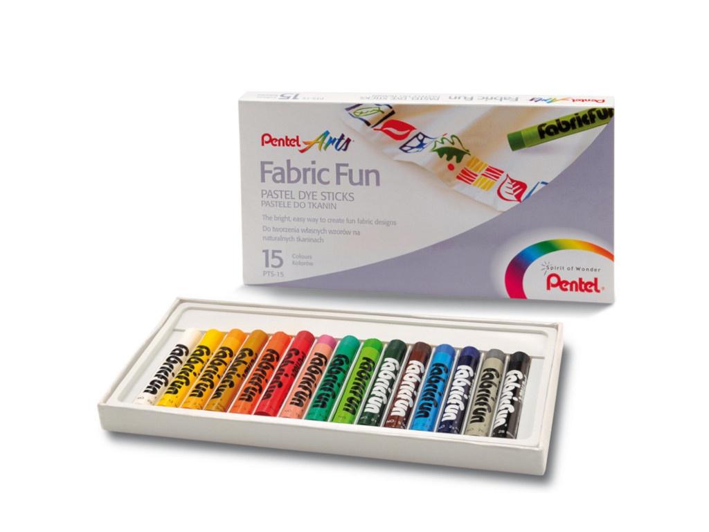 Пастель для ткани Pentel FabricFun Pastels 15 цветов PTS-15