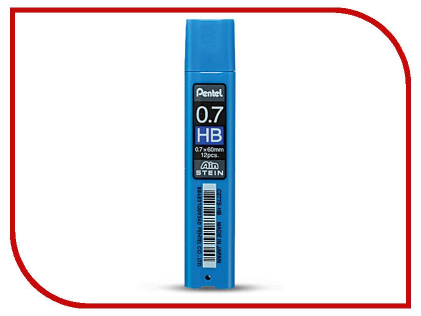 Купить Грифель Pentel Ain Stein 12шт 0.7mm C277S-HB, Япония