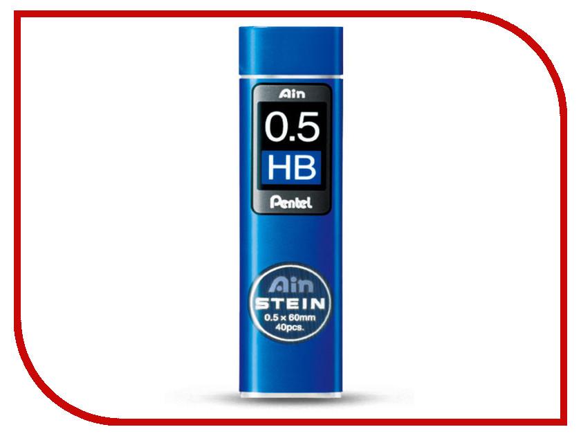 Купить Грифель Pentel Ain Stein 40шт 0.5mm C275-HB, Япония