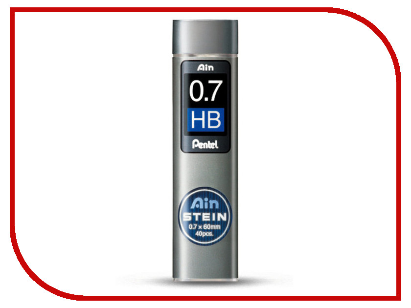 Купить Грифель Pentel Ain Stein 40шт 0.7mm C277-HB, Япония
