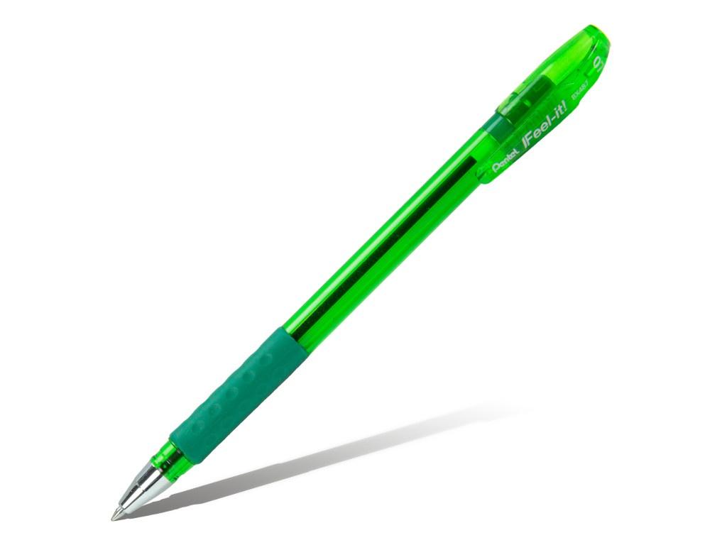 Ручка шариковая Pentel Feel it! 0.7mm корпус Green, стержень Green BX487-D