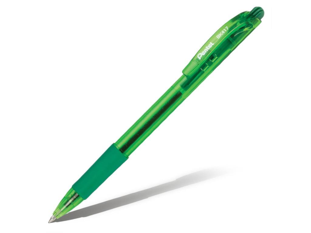 Ручка шариковая Pentel 0.7mm корпус Green, стержень Green BK417-D