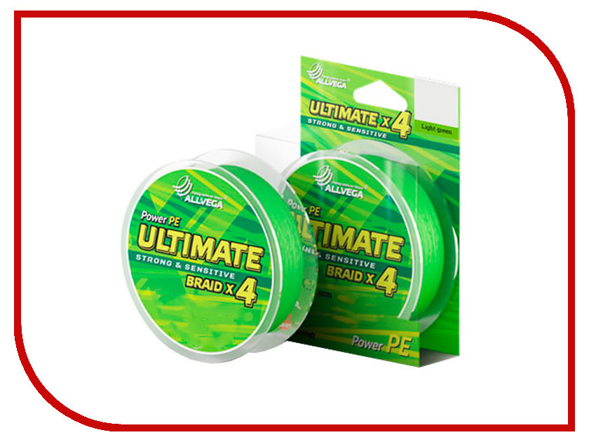 Леска Allvega Ultimate 0.18mm 92m 11.3kg Light Green U92LGR018