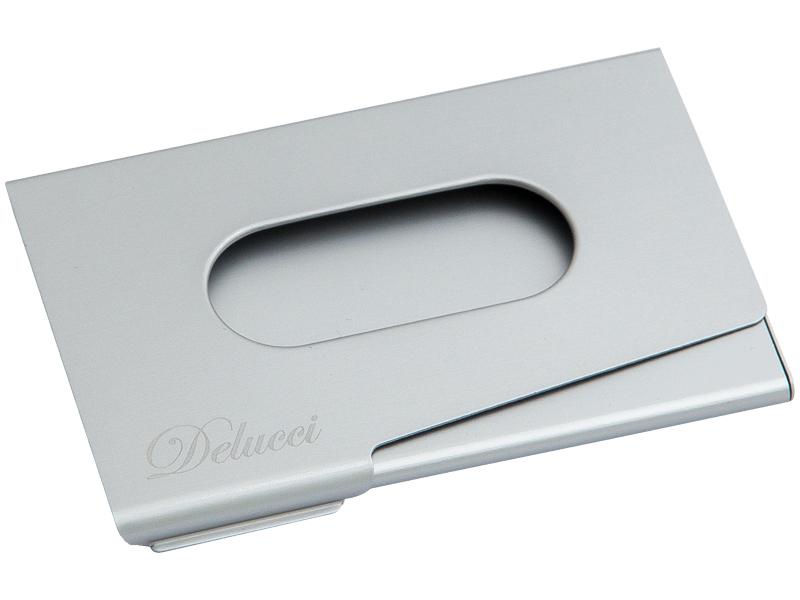 Визитница Delucci BCh_46002 Silver